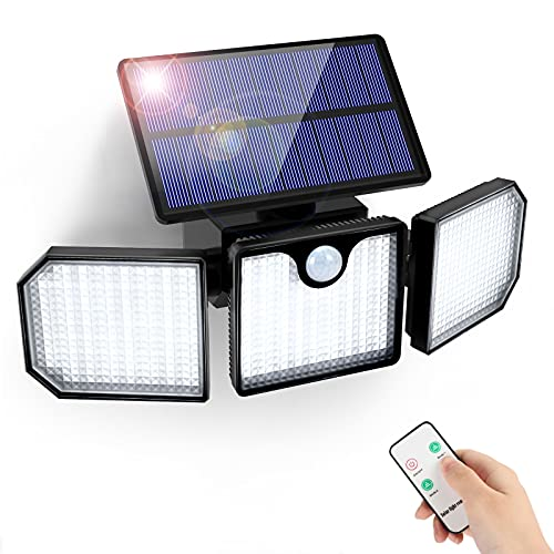 GolWof Luz Solar Exterior Sensor de Movimiento 230 LED 3 Modos lluminación Lampara Solar para...