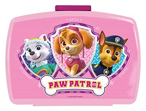 p:os Paw Patrol Design Lonchera de Plástico, Multicolor